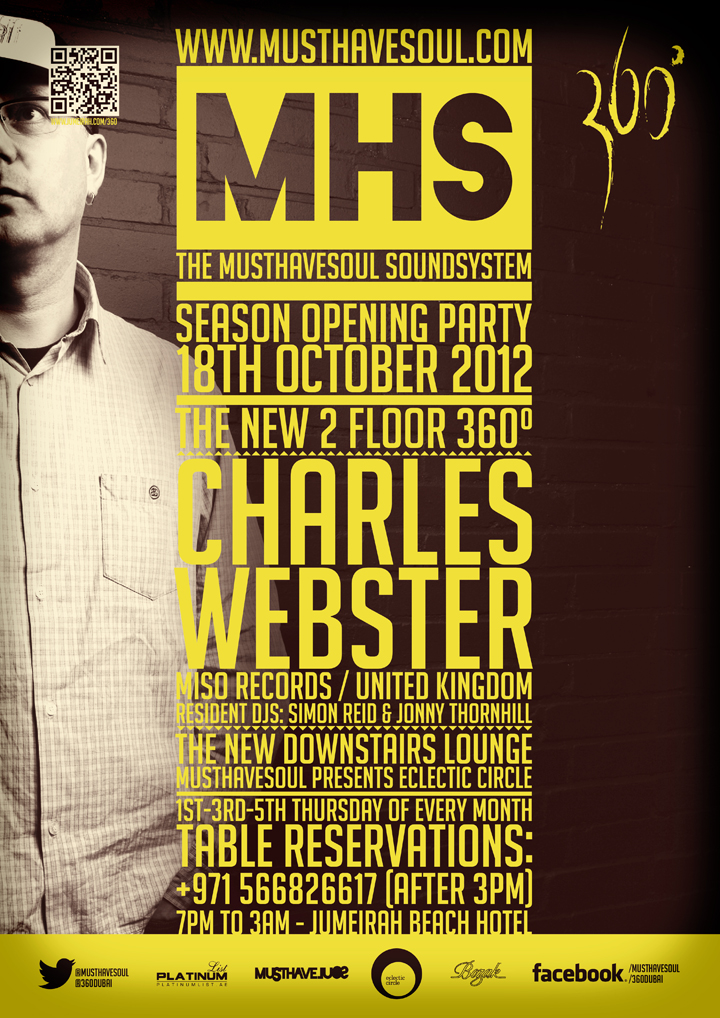 MHS Season Opening Party With Charles Webster (Miso Records, UK)